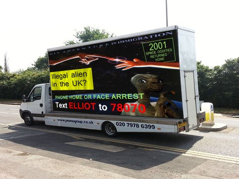 Parody of Home Office van