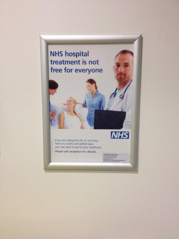 NHS hospital treatment is not free for everyone