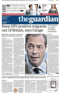 Farage HIV image