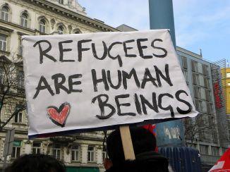 """Demo """"Gleiche Rechte für alle"""" (Refugee-Solidaritätsdemo) am 16. Februar 2013 in Wien"""